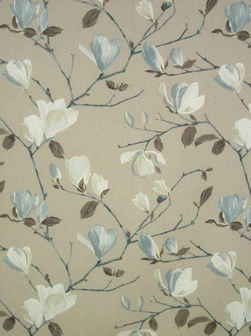 floral fabric roman blinds Sayuri Marine main