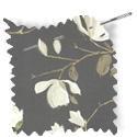 floral fabric roman blinds Sayuri Pewter thumbnail