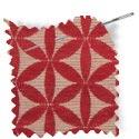 geometric fabric roman blinds Tapa Berry thumbnail