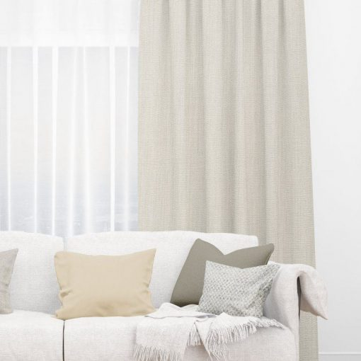 Bonny Castor Plain Fabric Thermal Curtains NZ