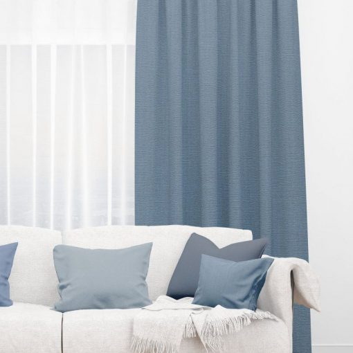 Bonny Navy Plain Fabric Curtains Online