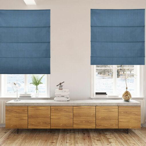Bonny Navy Plain Fabric Custom Made Blinds