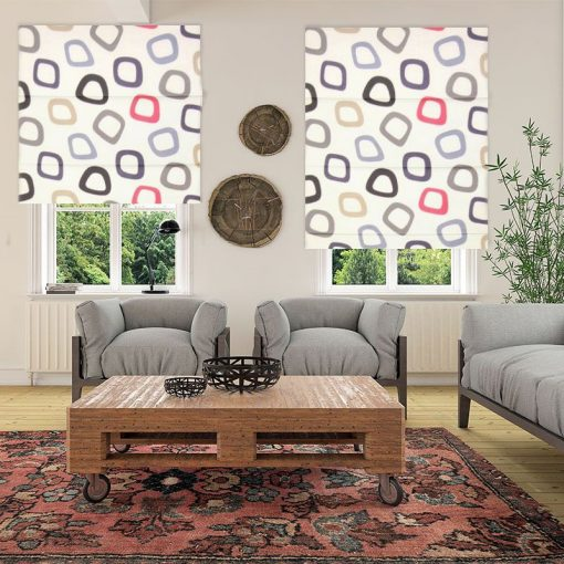 Tuba Admiral Living Room Roman Blinds Fabric