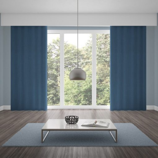 Bonny Navy Plain Fabric Curtains for Sale