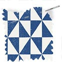 children fabric roman blinds rotation cobalt thumbnail