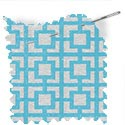 geometric fabric roman blinds mykonos aqua thumbnail
