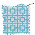 geometric fabric roman blinds mykonos aqua thumbnail
