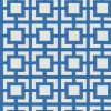 geometric fabric roman blinds mykonos azure main
