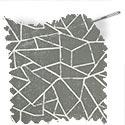 geometric fabric roman blinds polygon grey thumbnail