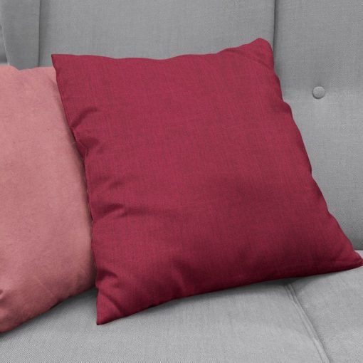 Bonny Merlot Plain Fabric Cushion Covers