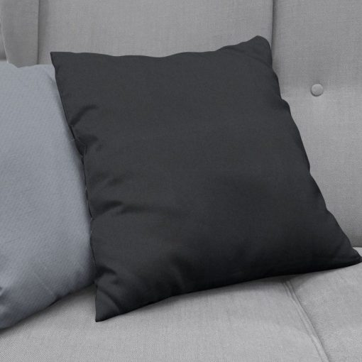 Bonny Onyx Plain Fabric Cushion Covers