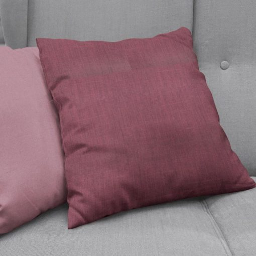 Bonny Plum Plain Fabric Cushion Covers