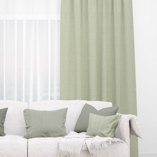 Bonny Celadon Plain Fabric Thermal Curtains NZ