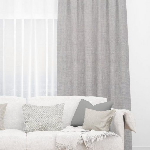 Bonny Cement Plain Fabric Thermal Curtains NZ