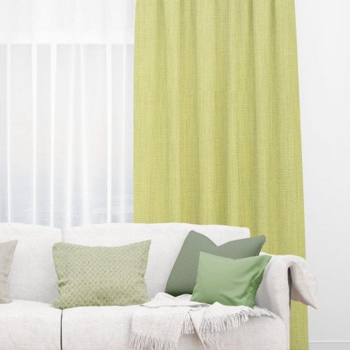 Bonny Endive Plain Fabric Curtains Online