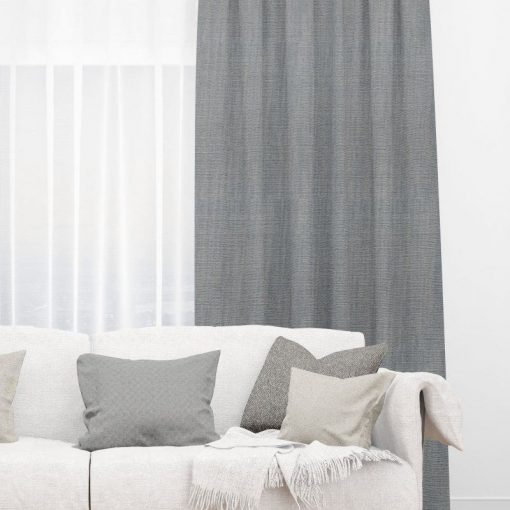 Bonny Granite Plain Fabric Thermal Curtains NZ