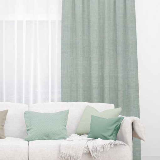Bonny Lichen Plain Fabric Thermal Curtains NZ