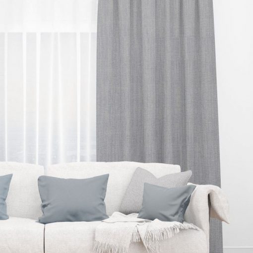 Bonny Metal Plain Fabric Thermal Curtains NZ