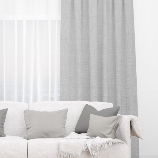 Bonny Mist Plain Fabric Thermal Curtains NZ