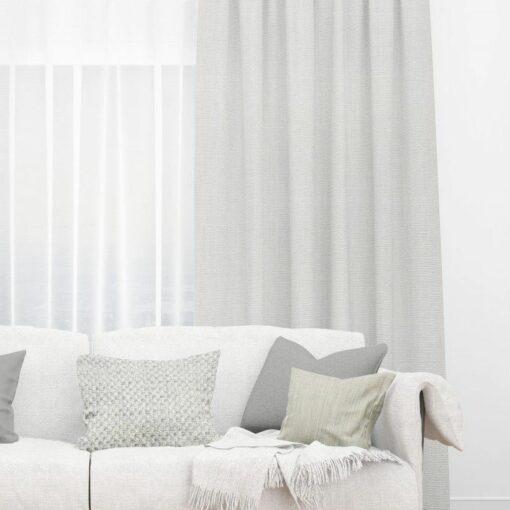 Bonny Pewter Plain Fabric Curtains for Sale