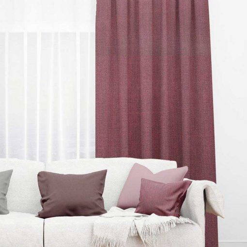 Bonny Plum Plain Fabric Curtains for Sale
