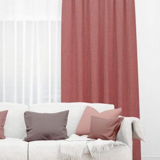 Bonny Salsa Plain Fabric Curtains Online