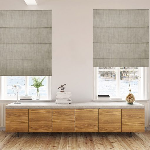 Bonny Ash Plain Fabric Custom Made Blinds