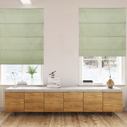 Bonny Celadon Plain Fabric Custom Made Blinds