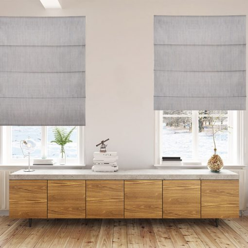 Bonny Cement Plain Fabric Custom Made Blinds