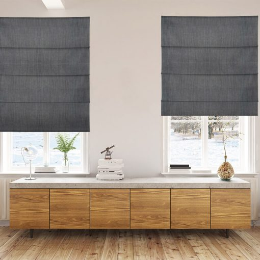 Bonny Charcoal Roman Blinds Hand Crafted Quality Roman Blinds Nz