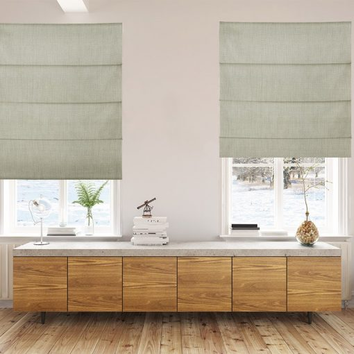 Bonny Dove Plain Fabric Custom Made Blinds
