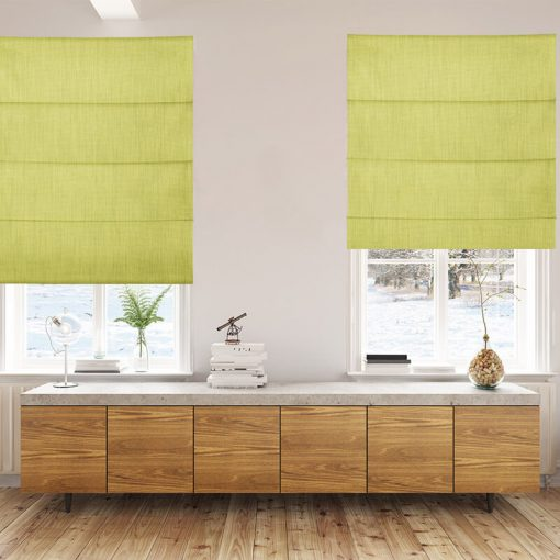 Bonny Endive Plain Fabric Custom Made Blinds