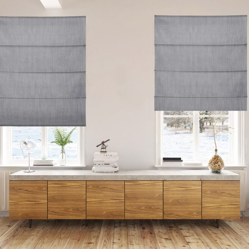 Bonny Metal Plain Fabric Custom Made Blinds