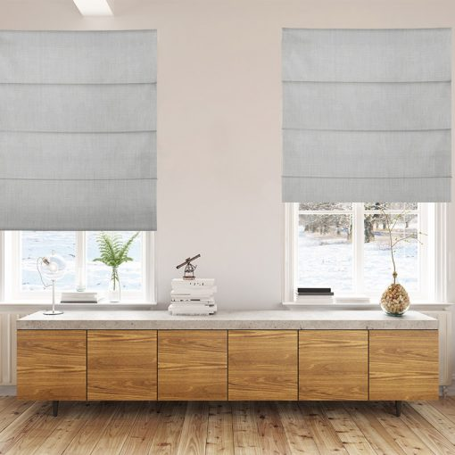 Bonny Mist Plain Fabric Custom Made Blinds