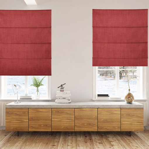 Bonny Salsa Plain Fabric Custom Made Blinds