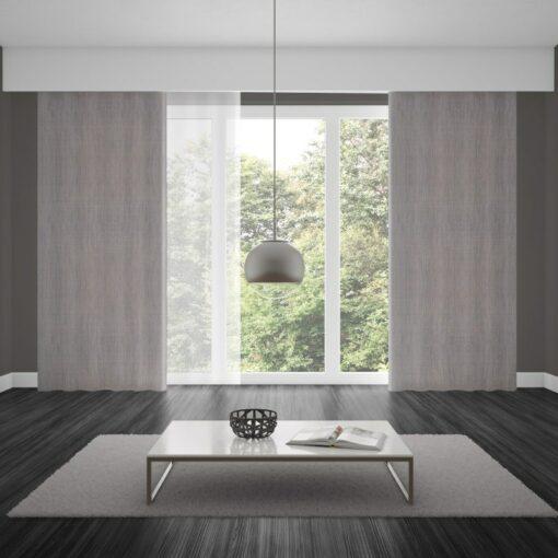 Bonny Cement Plain Fabric Thermal Curtains NZ