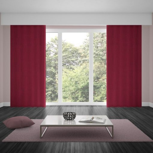 Bonny Merlot Plain Fabric Curtains Online