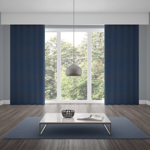 Bonny Midnight Plain Fabric Curtains Online
