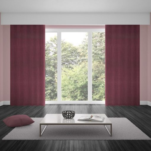 Bonny Plum Plain Fabric Thermal Curtains NZ