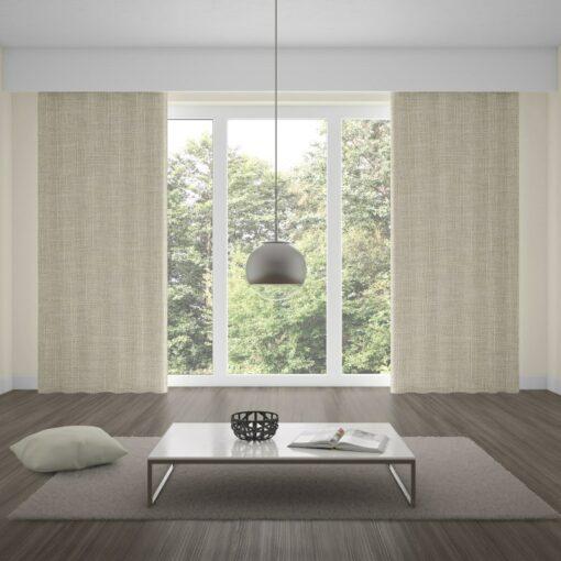 Envoy 2 Angora Linen Look Blackout Curtains