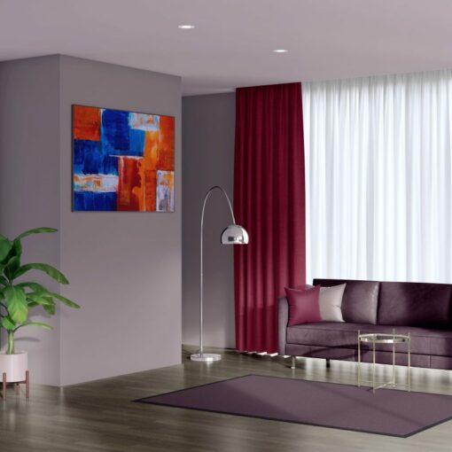 Bonny Merlot Plain Fabric Curtains for Sale