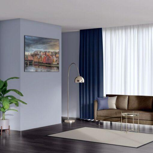 Bonny Midnight Plain Fabric Curtains for Sale