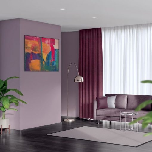 Bonny Plum Plain Fabric Curtains Online