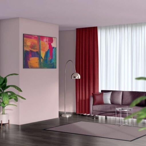 Bonny Salsa Plain Fabric Curtains for Sale