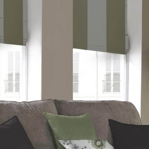 Advance Seagrass Striped Roman Blinds