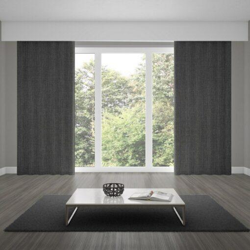 blackout curtains matrix gunmetal