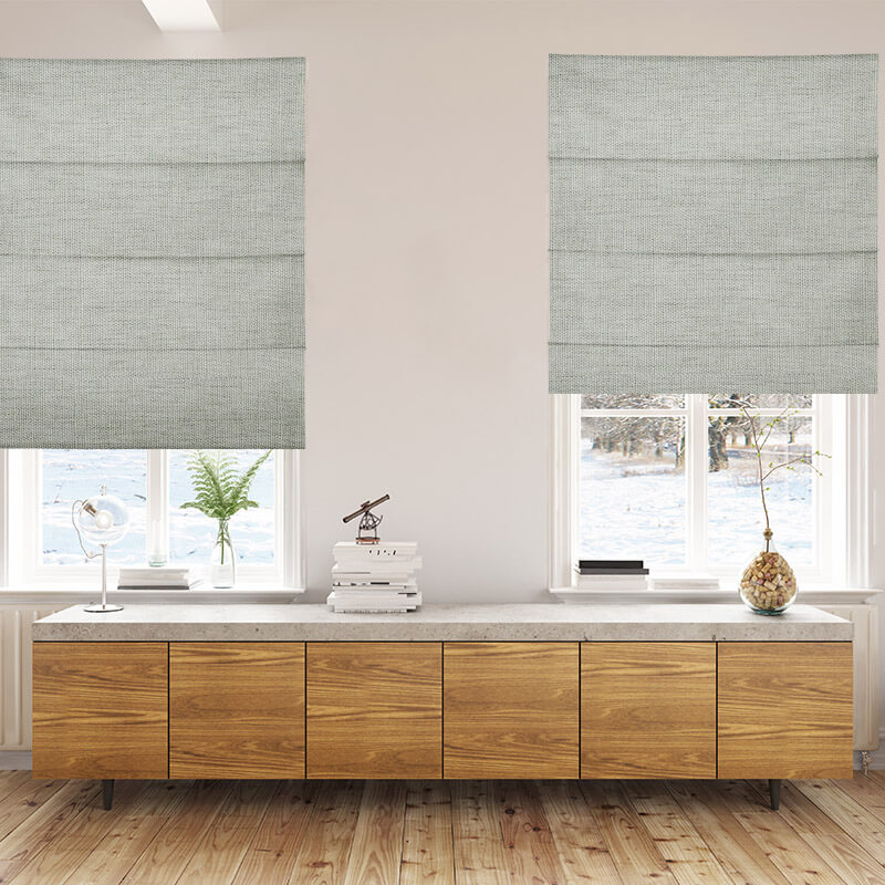 Envoy 2 Mist Fabric Blinds High Quality Affordable Roman
