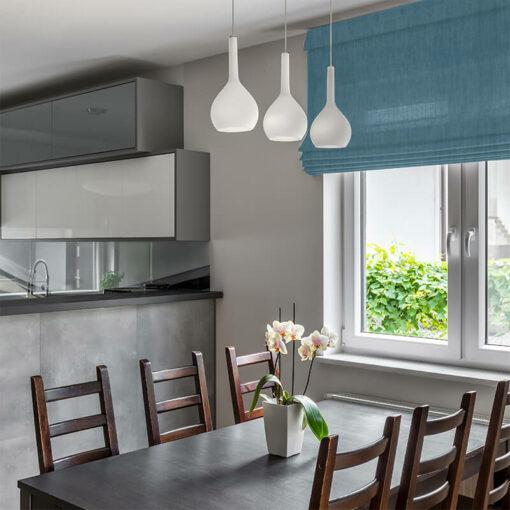 dining room roman blinds bonny teal