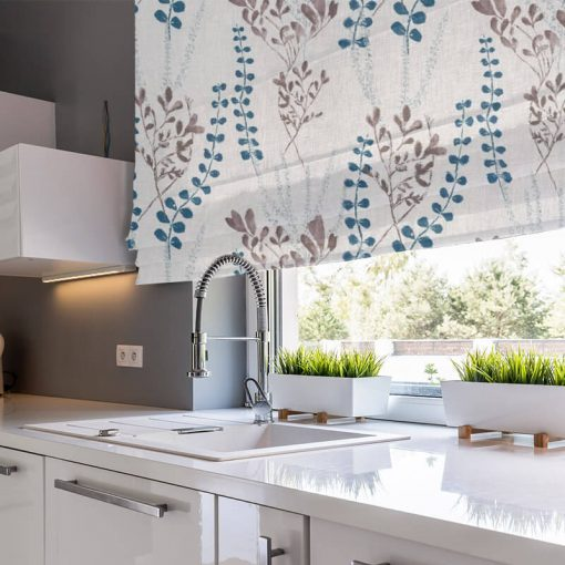 kitchen roman blinds potpourri opal