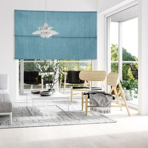 lounge roman blinds bonny teal